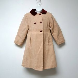 Papo d' Anjo  wool double breasted coat / pea coat
